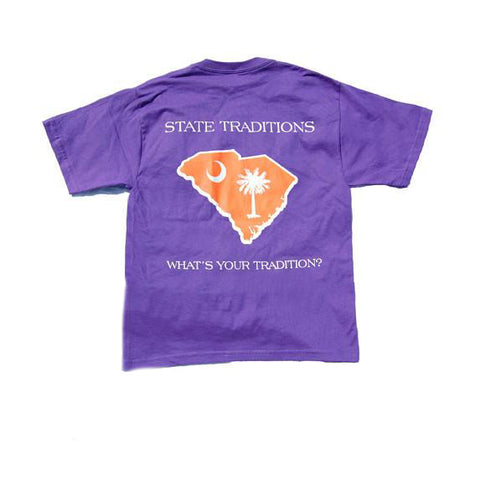 South Carolina Clemson Gameday Youth T-Shirt Purple
