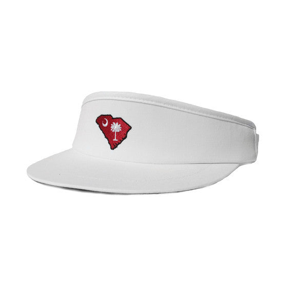0d965325f8d South Carolina Columbia Gameday Golf Visor White – State Traditions