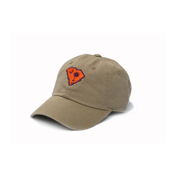 South Carolina Clemson Gameday Hat Khaki