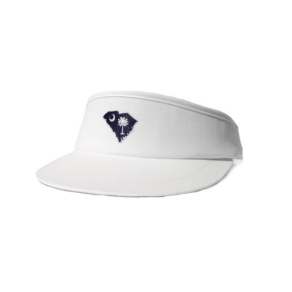 South Carolina Traditional Golf Visor White