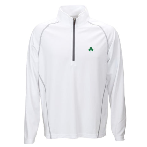 Shamrock Performance Pullover White