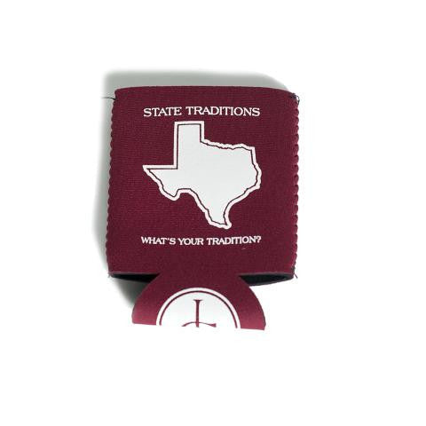 Texas College Station Gameday Koozie Maroon
