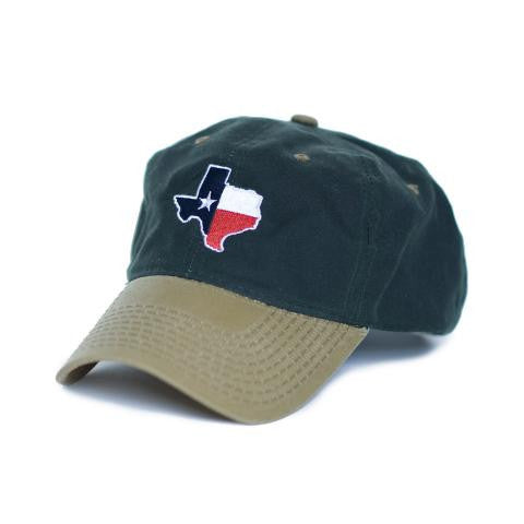 Texas Traditional Hat Waxed Canvas Green w/ Tan