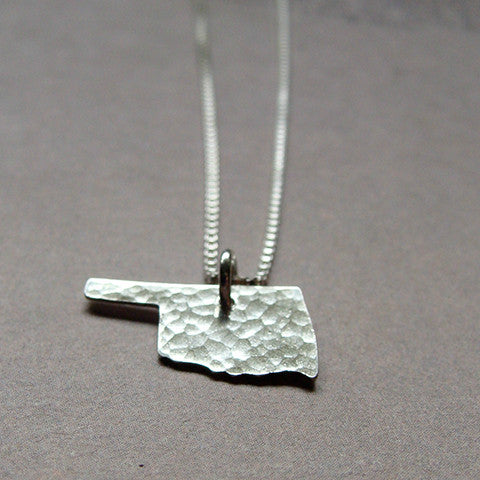 Oklahoma Sterling State Necklace