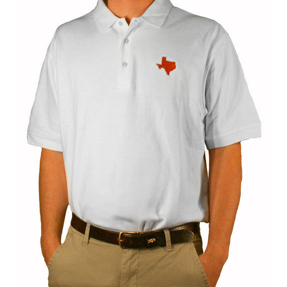Texas Lubbock Gameday Polo White