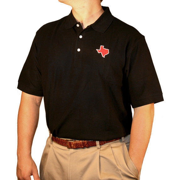 Texas Lubbock Gameday Polo Black