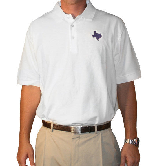 Texas Fort Worth Gameday Polo White