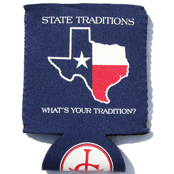 Texas Traditional Koozie Navy