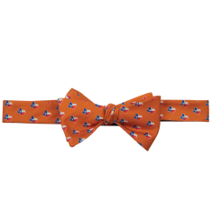 Texas Traditional Bow Tie Orange