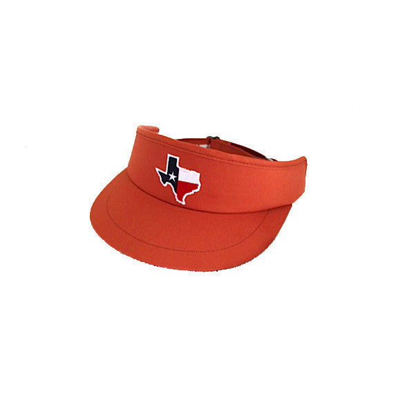 Texas Traditional Golf Visor Burnt Orange