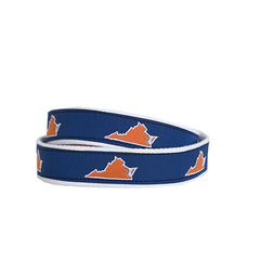 Virginia Charlottesville Gameday Belt Navy