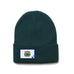 Forest Green Beanie with West Virginia Flag Patch by State Traditions, WV Beanie, West Virginia Toboggan,