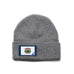 Heather Grey Beanie with West Virginia Flag Patch by State Traditions