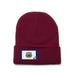 Maroon Beanie with West Virginia Flag Patch by State Traditions