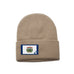 Khaki Beanie with West Virginia Flag Patch by State Traditions