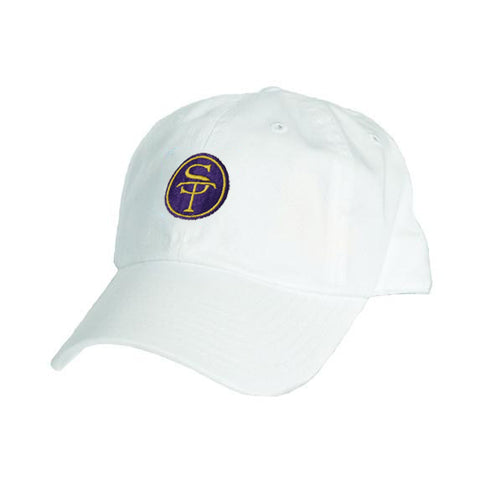 ST Logo Hat White, Purple, and Gold