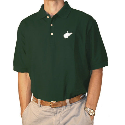 West Virginia Huntington Gameday Polo Green