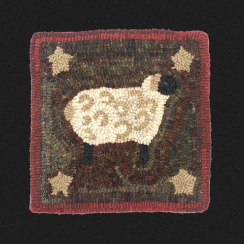 Starry Lamb Rug Kit or Pattern