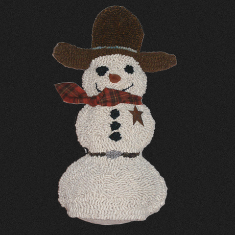 3D Cowboy Snowman Rug Kit or Pattern