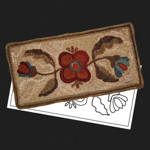 Table Top Floral Rug Kit or Pattern