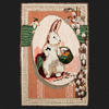 Easter Bunny Postcard Rug Kit or Pattern