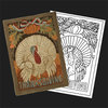 Thanksgiving Turkey Postcard Rug Kit or Pattern