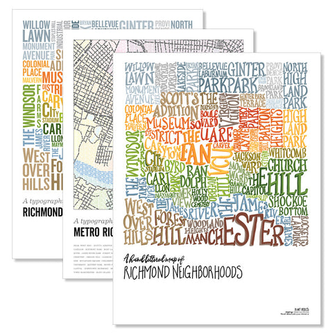 Richmond Type Map Poster Collection