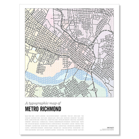 The Richmond Type Map Poster, Vol 3