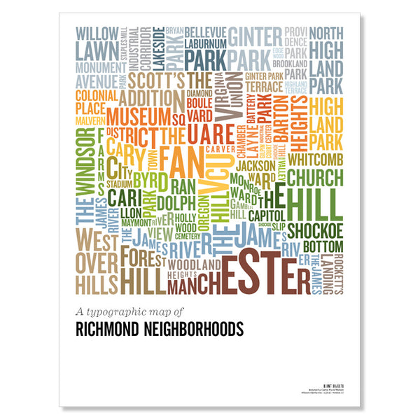 The Richmond Hood Map Poster, Vol 2