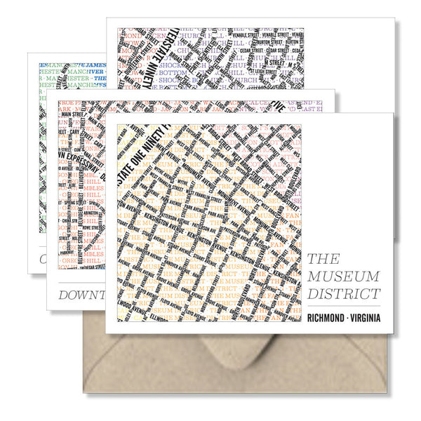 Richmond Type Map Notecards