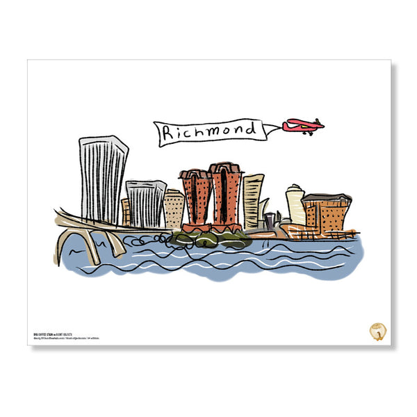 Richmond Skyline Print