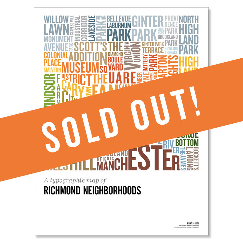 The Richmond Hood Map Poster