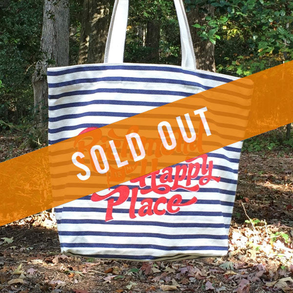 Richmond is my Happy Place Patterned Tote | Sailor Stripe