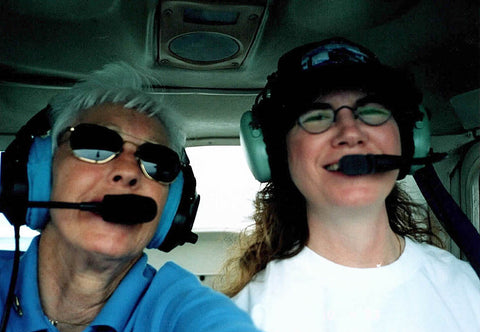 Wally Funk and Nanette Malher Flying