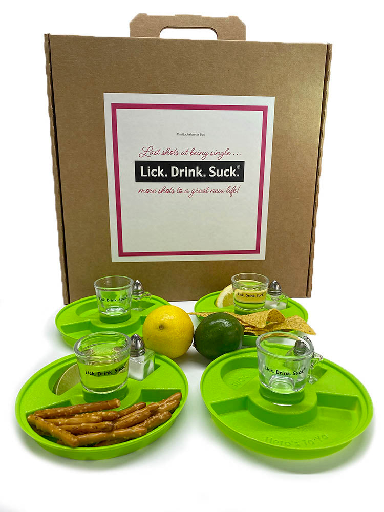Lick. Drink. Suck.® Bachelorette Party Tequila Drinking Kit - 4 Place Setting