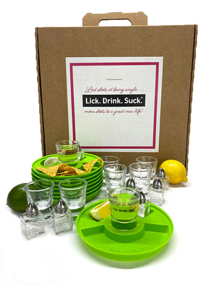 Lick. Drink. Suck.® Bachelorette Party Tequila Drinking Kit - 8 Place Setting