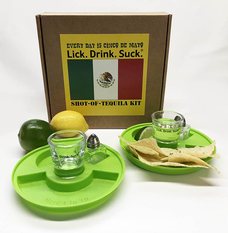 Lick. Drink. Suck.® Cinco de Mayo Tequila Drinking Kit