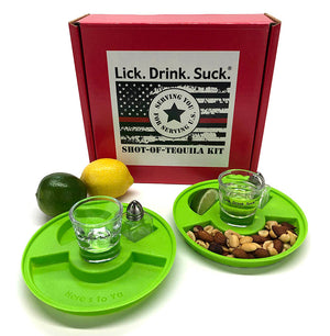 Honor a Firefighter with a Lick. Drink. Suck.®  Tequila Drinking Kit