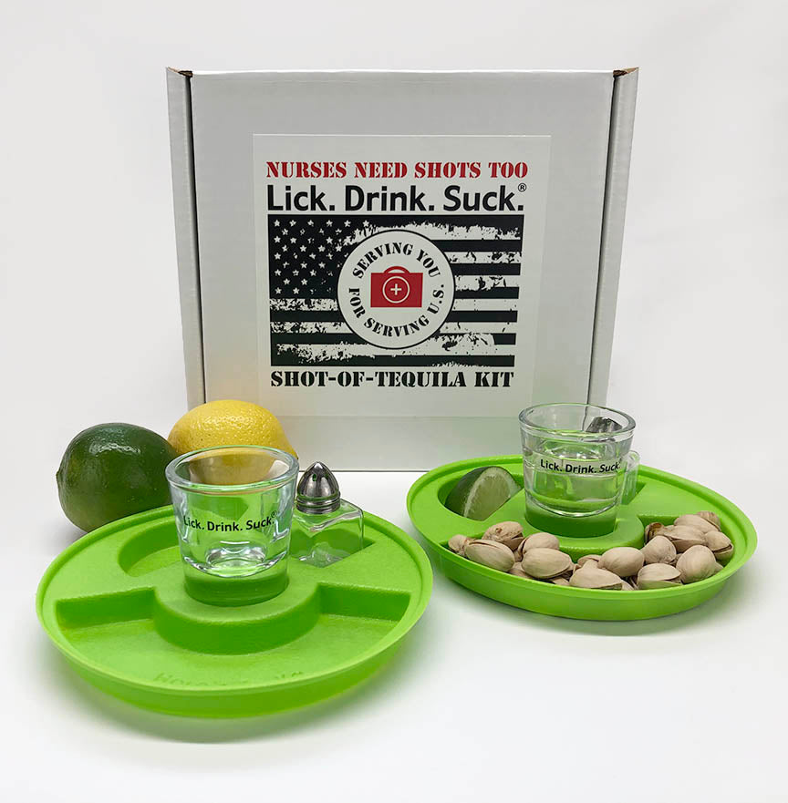 Lick. Drink. Suck.® Tequila Drinking Kit for Nurses - Nurses Need Shots, Too!