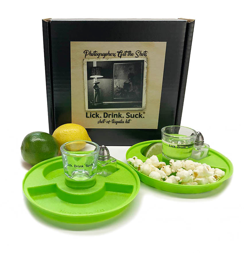 Lick. Drink. Suck.® Photographers Tequila Drinking Kit - Gifts for Photographers