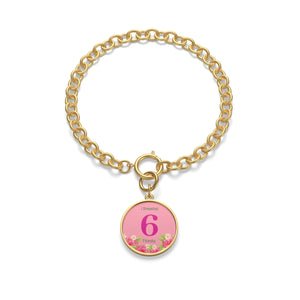6 Months Badge Chain Bracelet