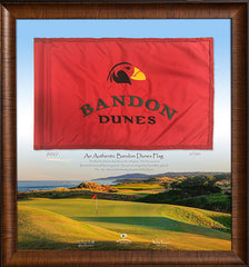 Framed Bandon Dunes Course Flown Flag