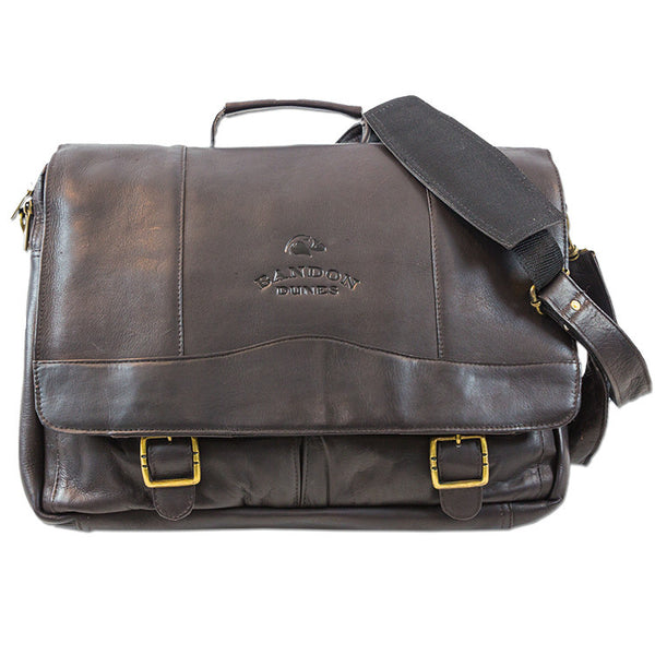 Flap Brief Messenger Bag Espresso #91819 Tica Sport