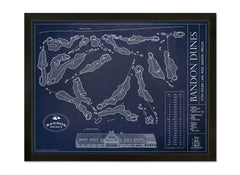 Ballpark Blueprint- Framed Canvas
