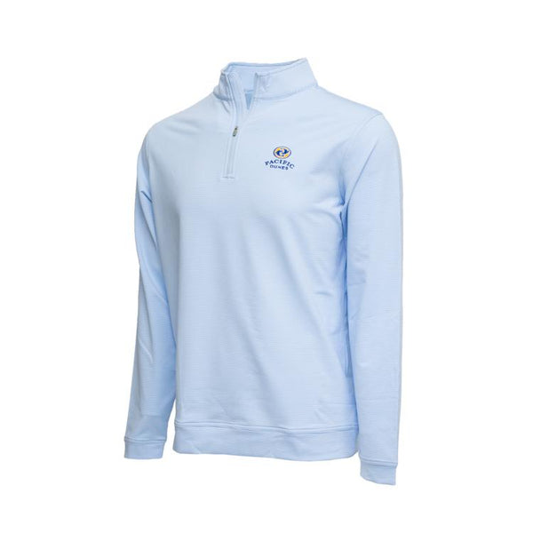 Perth Mini-Stripe Stretch Quarter-Zip Peter Millar- Pacific Dunes