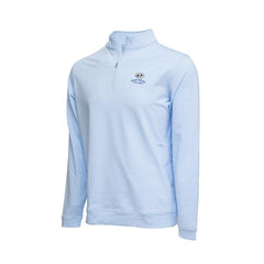 Perth Mini-Stripe Stretch 1/4 Zip- Pacific Dunes