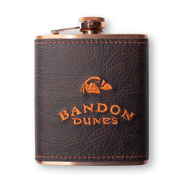Leather Wrapped Copper Flask- Bandon Dunes