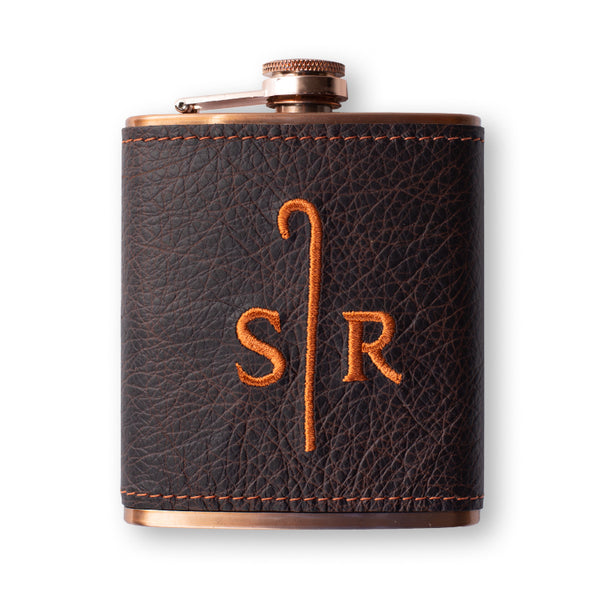 Leather Wrapped Copper Flask- Sheep Ranch