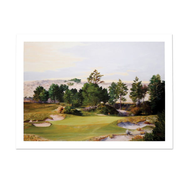Limited Edition Print of Bandon Trails' 17th Hole.