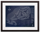 Ballpark Blueprint - Framed Print